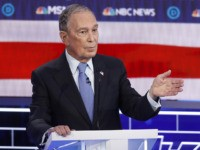 Democratic presidential candidate, former New York City Mayor Mike Bloomberg speaks during a Democratic presidential primary debate Wednesday, Feb. 19, 2020, in Las Vegas, hosted by NBC News and MSNBC. (AP Photo/John Locher)