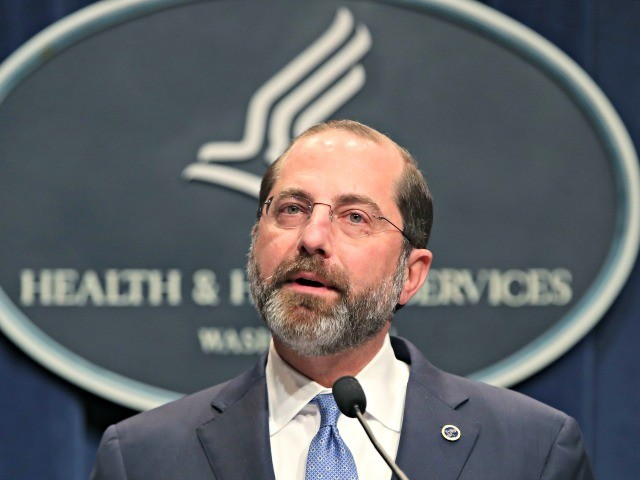WASHINGTON, DC - FEBRUARY 25: HHS Secretary Alex Azar speaks about the coronavirus during a press briefing on the administration's response to COVID-19 at the Department of Health and Human Services headquarters on February 25, 2020 in Washington, DC. The Trump administration has requested $2.5 billion to help combat the …