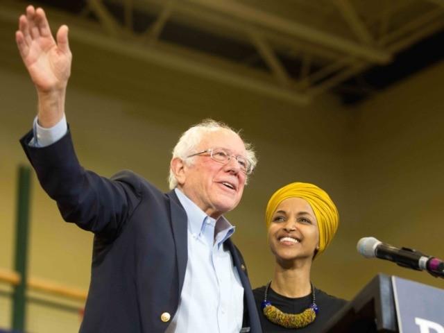 Bernie Sanders Ilhan Omar (Scott Eisen / Getty)