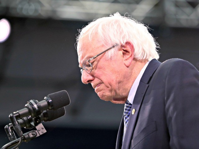 MANCHESTER, NEW HAMPSHIRE - FEBRUARY 11: Democratic presidential candidate Sen. Bernie Sanders (I-VT) speaks on stage during a primary night event on February 11, 2020 in Manchester, New Hampshire. New Hampshire voters cast their ballots today in the first-in-the-nation presidential primary. (Photo by Joe Raedle/Getty Images)