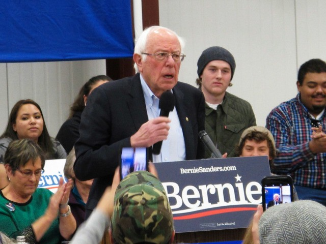 "Democratic presidential hopeful Bernie Sanders speaks before about 200 people at a rally at a community center on tribal land in Carson City, Nev., Monday, Dec. 9, 2019. He said Monday he believes he has ""an excellent"" chance to win in all three early presidential-selection states of Nevada, Iowa and …"