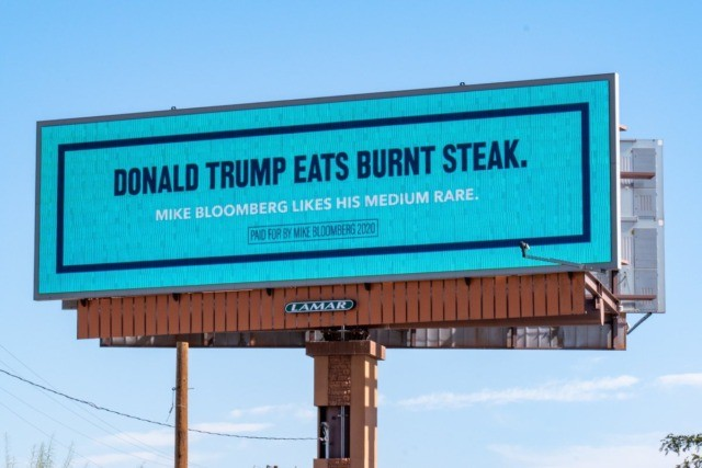 Bloomberg Anti-Trump Billboard