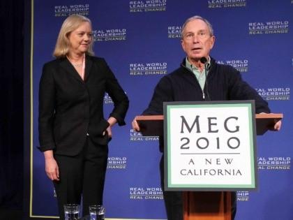 Bloomberg and Meg (Justin Sullivan / Getty)