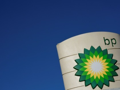 The logo of BP plc is seen at a BP petrol station in Liverpool on February 7, 2018. / AFP PHOTO / Paul ELLIS (Photo credit should read PAUL ELLIS/AFP via Getty Images)