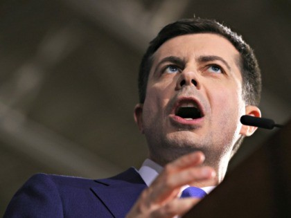 NASHUA, NEW HAMPSHIRE - FEBRUARY 11: Democratic presidential candidate former South Bend, Indiana Mayor Pete Buttigieg speaks at his primary night watch party on February 11, 2020 in Nashua, New Hampshire. New Hampshire voters cast their ballots today in the first-in-the-nation presidential primary. (Photo by Win McNamee/Getty Images)