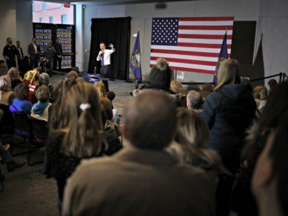 PLYMOUTH, NEW HAMPSHIRE - FEBRUARY 10: Democratic presidential candidate former South Bend, Indiana Mayor Pete Buttigieg speaks at a Meet Pete campaign event at Plymouth State University February 10, 2020 in Plymouth, New Hampshire. New Hampshire holds its first in the nation primary tomorrow. (Photo by Win McNamee/Getty Images)