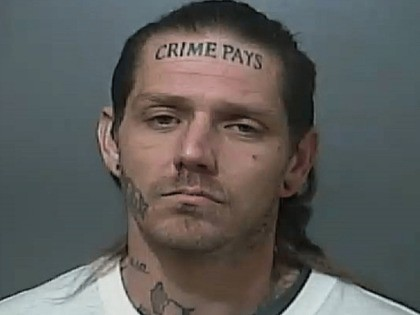 Man with 'Crime Pays' Tattoo Arrested After Second Police Chase