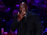 Michael Jordan's Makes 'Crying Jordan' Joke During Emotional Tribute to Kobe Bryant