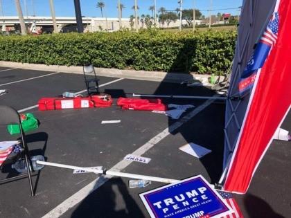 GOP Voter Registration Tent Attacked