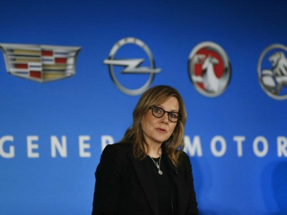 General Motors Chairman and CEO Mary Barra speaks about the financial outlook of the automaker, Tuesday, Jan. 10, 2017, in Detroit. The company issued an optimistic earnings forecast this year based on improved cost efficiencies and continued strong sales in North America and China. (AP Photo/Paul Sancya)
