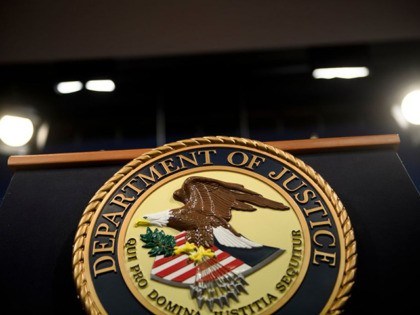 A view of the lecture before US Attorney General William Barr holds a press conference about the release of the Mueller Report at the Department of Justice April 18, 2019, in Washington, DC. - The final report from Special Counsel Robert Mueller's Russia investigation on Thursday could leave much of …