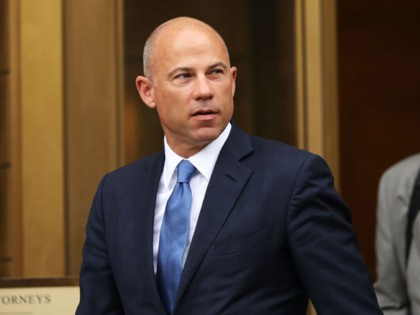 NEW YORK, NEW YORK - JULY 23: Celebrity attorney Michael Avenatti walks out of a New York court house after a hearing in a case where he is accused of stealing $300,000 from a former client, adult-film actress Stormy Daniels on July 23, 2019 in New York City. A grand …