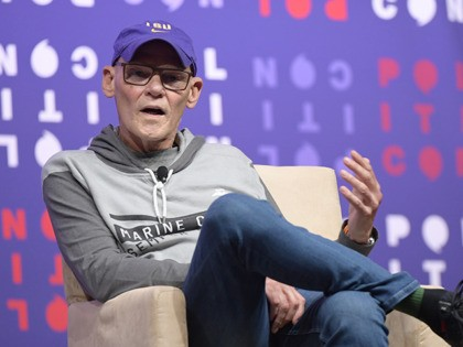NASHVILLE, TENNESSEE - OCTOBER 26: James Carville speaks onstage during the 2019 Politicon at Music City Center on October 26, 2019 in Nashville, Tennessee. (Photo by Jason Kempin/Getty Images for Politicon )