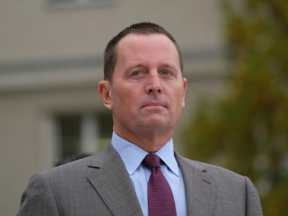 BERLIN, GERMANY - NOVEMBER 08: U.S. Ambassador to Germany Richard Grenell waits for the arrival of U.S. Secretary of State Mike Pompeo for talks with German Defense Minister Annegret Kramp-Karrenbauer at the Federal Defense Ministry on November 08, 2019 in Berlin, Germany. Pompeo is on a two-day visit to Germany …