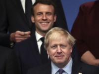 HERTFORD, ENGLAND - DECEMBER 04: President of France Emmanuel Macron and British Prime Minister Boris Johnson pose onstage during the annual NATO heads of government summit on December 4, 2019 in Watford, England. France and the UK signed the Treaty of Dunkirk in 1947 in the aftermath of WW2 cementing …