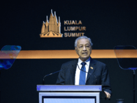 Malaysias Prime Minister Mahathir Mohamad delivers his speech during the opening ceremony of the Kuala Lumpur Summit in Kuala Lumpur on December 19, 2019. (Photo by Mohd RASFAN / AFP) (Photo by MOHD RASFAN/AFP via Getty Images)