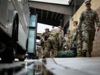 FORT BRAGG, NC - JANUARY 04: U.S. troops from the Army's 82nd Airborne Division arrive at Green Ramp for a deployment to the Middle East on January 4, 2020 in Fort Bragg, North Carolina. Soldiers from the Immediate Response Force of the 82nd are part of the approximately 3,000 troops …