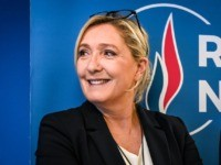 French far-right party Rassemblement National (RN) president Marine Le Pen poses after her new-year wishes to the press conference on January 16, 2020 at the party's headquarters in Nanterre, near Paris. (Photo by Bertrand GUAY / AFP) (Photo by BERTRAND GUAY/AFP via Getty Images)