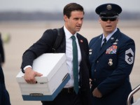 White House staffer John McEntee walks to board Air Force One prior to departure with US President Donald Trump from Joint Base Andrews in Maryland, January 23, 2020, as he travels to speak at the Republican National Committee Winter Meeting in Miami, Florida. (Photo by SAUL LOEB / AFP) (Photo …