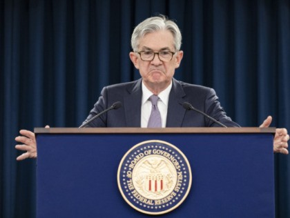 WASHINGTON, DC - JANUARY 29: Federal Reserve Board Chairman Jerome Powell speaks during a news conference after a Federal Open Market Committee meeting on January 29, 2020 in Washington, DC. Chairman Powell announced that the Federal Reserve will not be adjusting interest rates. (Photo by Samuel Corum/Getty Images)