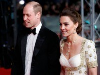 Britain's Prince William, Duke of Cambridge, (L) and Britain's Catherine, Duchess of Cambridge, (R) arrive at the BAFTA British Academy Film Awards at the Royal Albert Hall in London on February 2, 2020. (Photo by Tolga AKMEN / AFP) (Photo by TOLGA AKMEN/AFP via Getty Images)