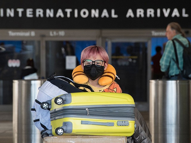 Passengers wear face masks to protect against the spread of the Coronavirus as they arrive on a flight from Asia, at Los Angeles International Airport, California, on February 2, 2020. - The US has declared a public health emergency and starting today February 2, is temporarily banning the entry of …