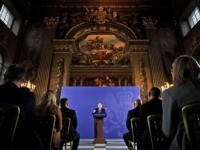 "Britain's Prime Minister Boris Johnson reacts as he delivers a speech at the Old Royal Naval College in Greenwich, south east London on February 3, 2020. - Britain on Monday said it wanted a ""thriving trade and economic relationship"" with the European Union, as it set out its position for …"