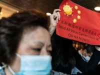 HONG KONG, CHINA - FEBRUARY 03: Protesters hold placards during a rally supporting a strike in the medical industry to demand the government shut the city's border with China to reduce the risk of the coronavirus spreading on February 3, 2020 in Hong Kong, China. Hong Kong has 15 confirmed …