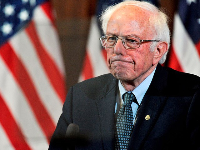 US Presidential Candidate and US Senator Bernie Sanders gives his response to US President Donald Trump's State of the Union speech to a room of supporters at the Currier Museum of Art Auditorium in Manchester, New Hampshire on February 4, 2020. - Democratic White House candidate Pete Buttigieg seized a …