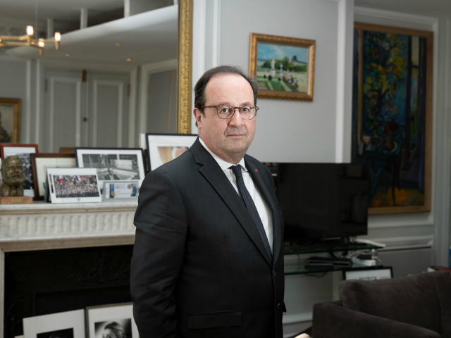 French former President Francois Hollande, poses during a photo session in his office in Paris on February 6, 2020 . (Photo by JOEL SAGET / AFP) (Photo by JOEL SAGET/AFP via Getty Images)