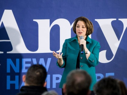 KEENE, NH - FEBRUARY 10: Democratic presidential candidate Sen. Amy Klobuchar (D-MN) speaks during a campaign event on February 10, 2020 in Keene, New Hampshire. The New Hampshire primary is February 11. (Photo by Scott Eisen/Getty Images)