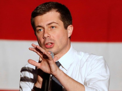 SALT LAKE CITY, UT - FEBRUARY 17: Democratic presidential candidate Pete Buttigieg talks to supporters at a town hall meeting on February 17, 2020 in Salt Lake City, Utah. Buttigieg is making a swing though Utah before it votes on super Tuesday March 3rd. (Photo by George Frey/Getty Images)