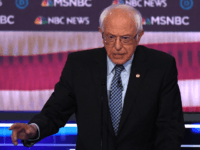 Democratic presidential hopeful Vermont Senator Bernie Sanders speaks during the ninth Democratic primary debate of the 2020 presidential campaign season co-hosted by NBC News, MSNBC, Noticias Telemundo and The Nevada Independent at the Paris Theater in Las Vegas, Nevada, on February 19, 2020. (Photo by Mark RALSTON / AFP) (Photo …