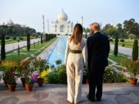 Donald Trump and Melania Trump Visit the Taj Mahal in India
