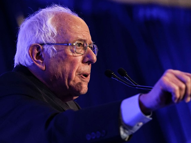 """CHARLESTON, SC - FEBRUARY 24: Democratic presidential candidate Sen. Bernie Sanders (I-VT) speaks at the South Carolina Democratic Party """"First in the South"""" dinner on February 24, 2020 in Charleston, South Carolina. South Carolina holds its Democratic presidential primary on Saturday, February 29. (Photo by Drew Angerer/Getty Images)"""