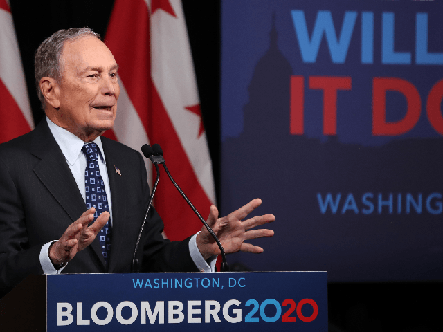 Democratic presidential candidate, former New York City Mayor Michael Bloomberg speaks about affordable housing during a campaign event where he received an endorsement from District of Columbia Mayor, Muriel Bowser, on January 30, 2020 in Washington, DC. The first-in-the-nation Iowa caucuses will be held February 3. (Photo by Mark Wilson/Getty …