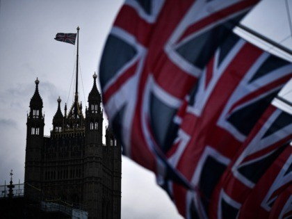 LONDON, ENGLAND - FEBRUARY 01: Union Jack flags hang in parliament square on February 1, 2020 in London, England. Last night Brexit supporters celebrated at 11.00pm as the UK and Northern Ireland exited the European Union, 188 weeks after the referendum on June 23rd, 2016. (Photo by Jeff J Mitchell/Getty …