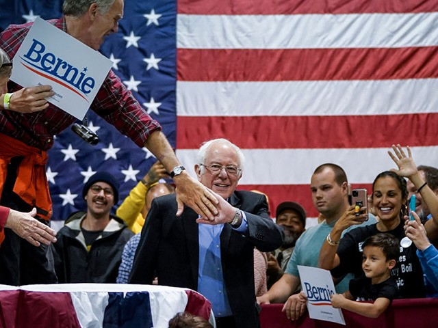 NORTH CHARLESTON, SC - FEBRUARY 26: Democratic presidential candidate Sen. Bernie Sanders (I-VT) arrives for a campaign rally at the Charleston Area Convention Center on February 26, 2020 in North Charleston, South Carolina. South Carolina holds its Democratic presidential primary on Saturday, February 29. (Photo by Drew Angerer/Getty Images)