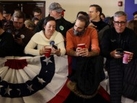DES MOINES, IOWA - FEBRUARY 03: Supporters wait for results at a caucus night watch party for Democratic presidential candidate Sen. Elizabeth Warren (D-MA) on February 03, 2020 in Des Moines, Iowa. Iowa is the first contest in the 2020 presidential nominating process with the candidates then moving on to …