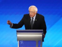 MANCHESTER, NEW HAMPSHIRE - FEBRUARY 07: Democratic presidential candidate Sen. Bernie Sanders (I-VT) participates in the presidential primary debate in the Sullivan Arena at St. Anselm College on February 07, 2020 in Manchester, New Hampshire. Seven candidates qualified for the second Democratic presidential primary debate of 2020 which comes just …