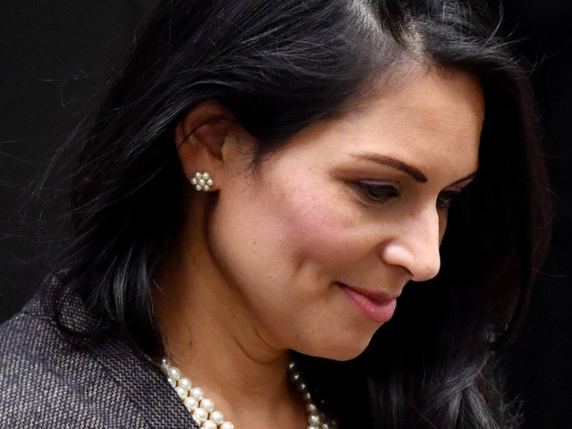 LONDON, ENGLAND - FEBRUARY 13: British Home Secretary Priti Patel leaves 10 Downing Street on February 13, 2020 in London, England. The Prime Minister makes adjustments to his Cabinet now Brexit has been completed. (Photo by Leon Neal/Getty Images)