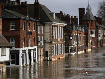 YORK, ENGLAND - FEBRUARY 17: Water levels in the River Ouse in York begin to recede on February 17, 2020 in York, England. Storm Dennis is the second named storm to bring extreme weather in a week and follows in the aftermath of Storm Ciara. (Photo by Ian Forsyth/Getty Images)