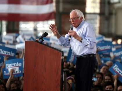 RICHMOND, CALIFORNIA - FEBRUARY 17: Democratic presidential candidate Sen. Bernie Sanders (I-VT) speaks during a campaign event on February 17, 2020 in Richmond, California. Bernie Sanders is campaigning in California ahead of the state's Democratic presidential primary on March 3rd. (Photo by Justin Sullivan/Getty Images)