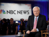 Chris Matthews of MSNBC waits to go on the air inside the spin room at Bally's Las Vegas Hotel & Casino after the Democratic presidential primary debate on February 19, 2020 in Las Vegas, Nevada. Six candidates qualified for the third Democratic presidential primary debate of 2020, which comes just …