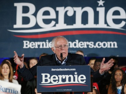 LAS VEGAS, NEVADA - FEBRUARY 21: Democratic presidential candidate Sen. Bernie Sanders (I-VT) speaks to supporters at a campaign rally on February 21, 2020 in Las Vegas, Nevada. The upcoming Nevada Democratic presidential caucus will be held February 22. (Photo by Mario Tama/Getty Images)