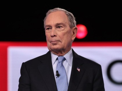 CHARLESTON, SOUTH CAROLINA - FEBRUARY 25: Democratic presidential candidates former New York City Mayor Mike Bloomberg arrives on stage for the Democratic presidential primary debate at the Charleston Gaillard Center on February 25, 2020 in Charleston, South Carolina. Seven candidates qualified for the debate, hosted by CBS News and Congressional …