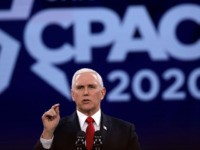 NATIONAL HARBOR, MARYLAND - FEBRUARY 27: U.S. Vice President Mike Pence speaks during the annual Conservative Political Action Conference (CPAC) at Gaylord National Resort & Convention Center February 27, 2020 in National Harbor, Maryland. Conservatives gather at the annual event to discuss their agenda. (Photo by Alex Wong/Getty Images)