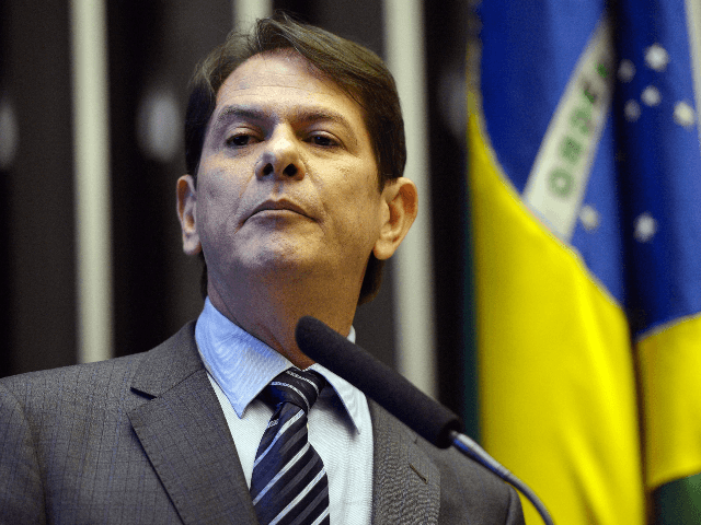 Brazilian Minister of Education Cid Gomes delivers a speech in the chamber of deputies in Brasilia on March 18, 2015. Gomes resigned from his post after having an argument with deputies Wednesday. AFP PHOTO/Agencia Brasil/Fabio POZZEBOM (Photo credit should read FABIO POZZEBOM/AFP via Getty Images)