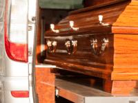 casket in hearse
