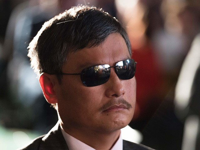 "Former Lantos Human Right Prize recipient Chen Guangcheng, a Chinese lawyer and activist imprisoned for speaking out against forced abortions in rural China, attends the award ceremony for Vian Dakhil, an Iraqi lawmaker and internationally renowned activist who has been called the militant group ISIS's ""most wanted"" woman, as she …"